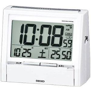 セイコー 置時計 湿度表示付き 電波時計『トークライナー』DA206W(白パール塗・・・