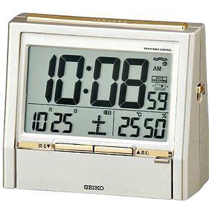 セイコー 置時計 湿度表示付き 電波時計『トークライナー』DA206G(薄金色パー・・・