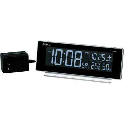 SEIKO(セイコー) 交流式置時計 デジタル 目覚まし時計 電波時計 DL207・・・