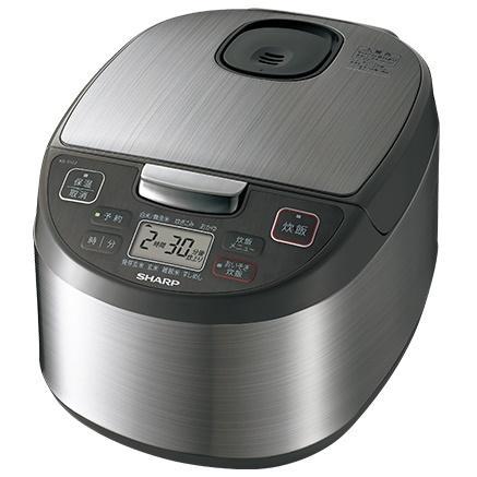 SHARP(シャープ) 1.0L(5.5合炊き) ジャー炊飯器 KS-S10J-S (シルバー系・・・