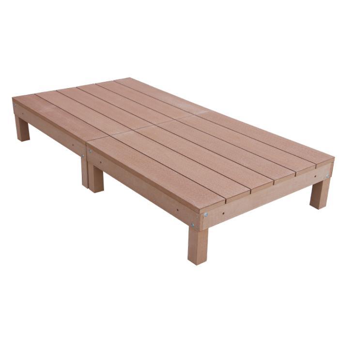 アイウッド人工木デッキ2点セット0.5坪ナチュラル ウッドデッキ10368-2・・・