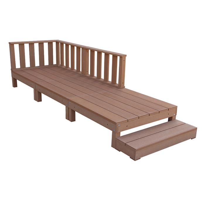 アイウッド人工木デッキ7点セット0.75坪ナチュラル ウッドデッキ10368-3d3f1・・・