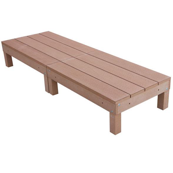 アイウッド人工木デッキ2点セット60系ナチュラル ウッドデッキ10368-2d6・・・