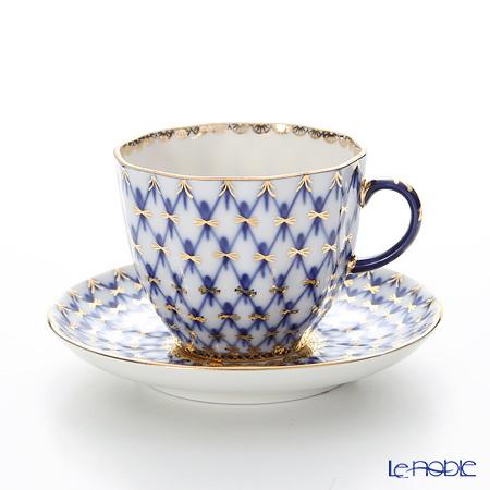 ロシア食器 インペリアル・ポーセリン コバルトネット コーヒーカップ&ソー・・・