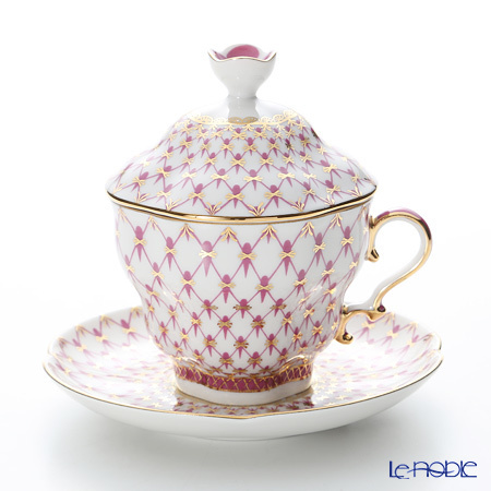 ロシア食器 インペリアル・ポーセリン ブルース(ピンクネット) ティーカップ・・・