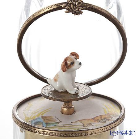 リモージュボックス/エッグボックス クリスタル ビーグル犬 (オルゴール付:・・・