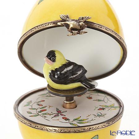 リモージュボックス/エッグボックス リモージュ イエロー 鳥 (オルゴール付・・・