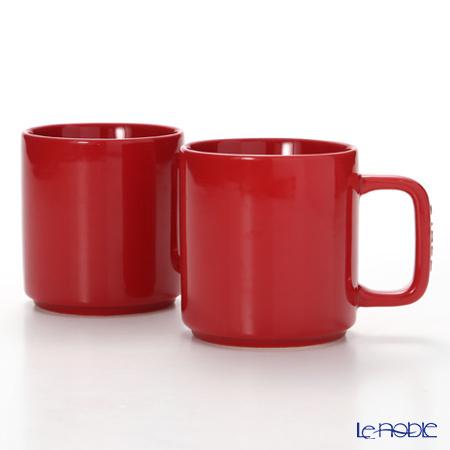 ストウブ(staub) マグカップ(セラミック製) 7.8cm/0.2L チェリー 2pcsセッ・・・