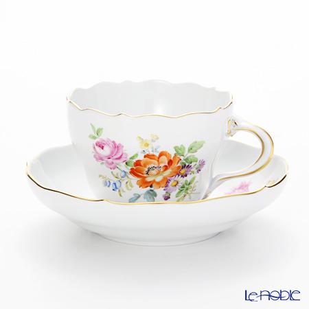 マイセン(Meissen)フラワーブーケ 220110/00582 コーヒーカップ&ソーサー (・・・
