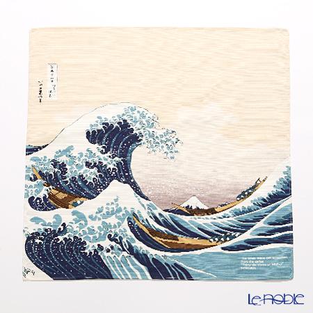 むす美 風呂敷 綿100% 日本製 20720-102 チーフ隅田川 波裏に富士ベージュ 4・・・