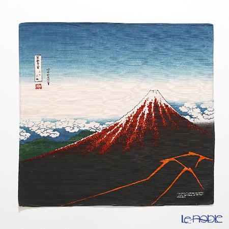 むす美 風呂敷 綿100% 日本製 20720-051 チーフ隅田川 黒富士(山下白雨)チャ・・・