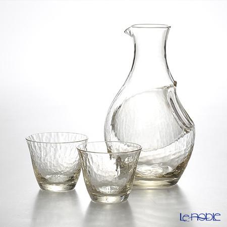 東洋佐々木ガラス 高瀬川 琥珀 冷酒セット(金箔) G604-M72 カラフェ300ml×1・・・