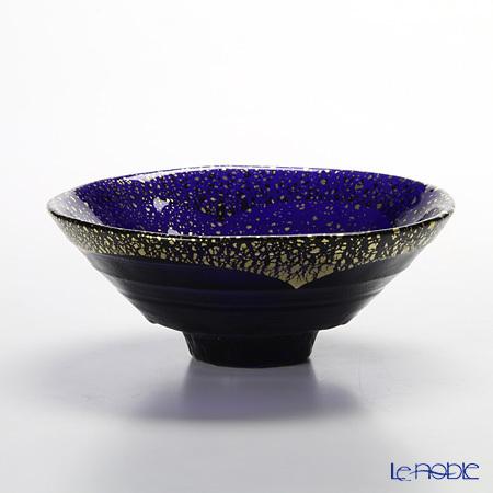金箔鉢 43230G-SHB 平形碗 紺碧