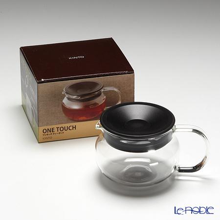 キントー 耐熱ガラス One-touch ティーポット 280ml ブラウン 商品画像5:ブランド洋食器専門店 ル・ノーブル