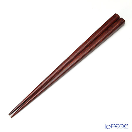 箸 一半樺の木 赤 23.5cm (食器洗浄機対応)