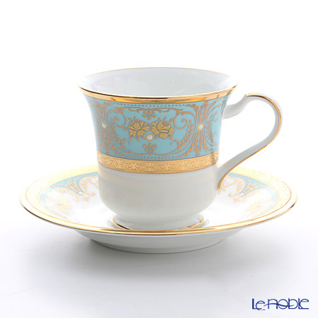 ノリタケ ジョージアンターコイズ アメリカン碗皿 T59589/485・・・