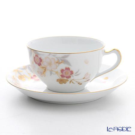 大倉陶園 糸桜 碗皿 1C/A682-1