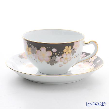 大倉陶園 友禅桜 碗皿 1C/A682-2
