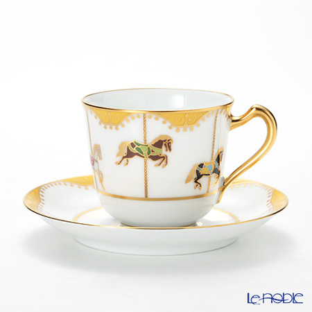 大倉陶園 うまくゆく 回転木馬 コーヒーカップ&ソーサー 57C/190・・・