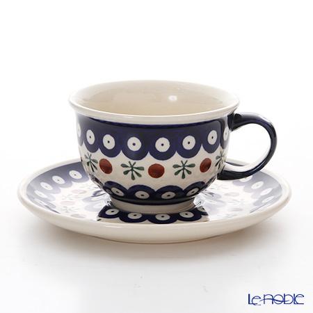 ポーリッシュポタリー(ポーランド陶器) ボレスワヴィエツ ティーカップ&ソー・・・