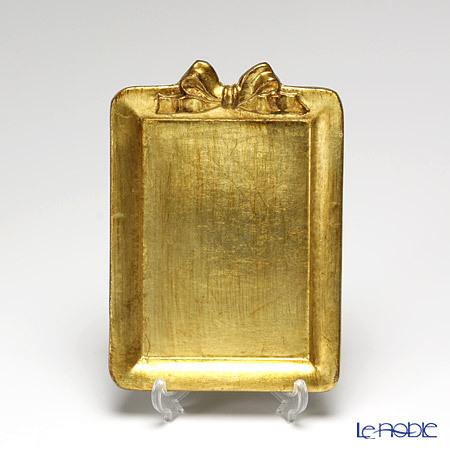 フィレンツェ トレイ ミニ 長方形 13×18.5cm リボン 縦 ゴール・・・
