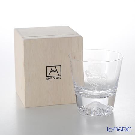 【伝統工芸】田島硝子 富士山グラス ロックグラス 干支 2017年酉 桜風呂敷包・・・