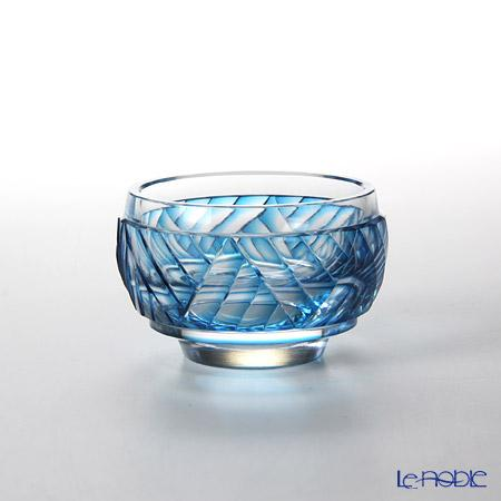 創作薩摩切子 波 丸盃 ブルー 2020-1-B