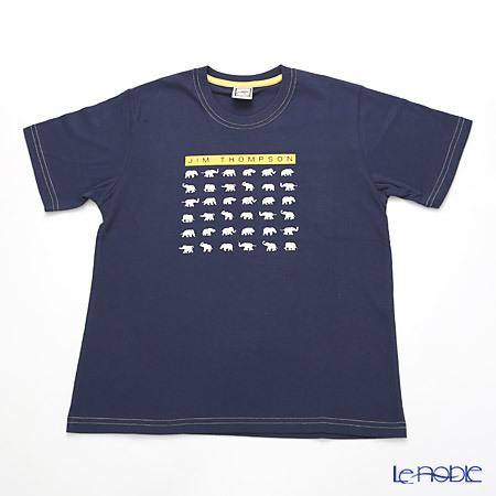 ジムトンプソン 子供服 Tシャツ M(8-11歳) ホワイトゾウ36/ダークブル・・・