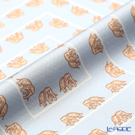 ジムトンプソン シルクハンカチ(L) PSB9683E ゾウ ブラウン/ライトブルー 商品画像3:ブランド洋食器専門店 ル・ノーブル