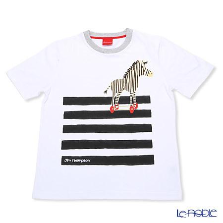 ジムトンプソン 子供服 Tシャツ M(8-11歳) シマウマ/ホワイ・・・