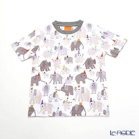 ジムトンプソン 子供服 Tシャツ S(4-7歳) ミニゾウパーティー/ホワイ・・・