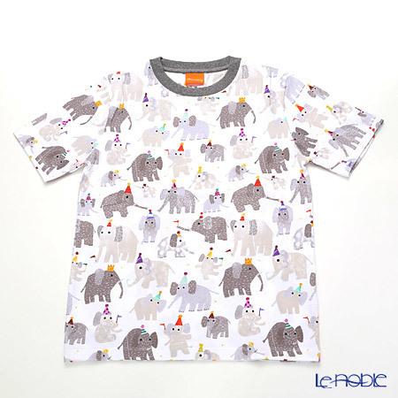 ジムトンプソン 子供服 Tシャツ M(8-11歳) ミニゾウパーティー/ホワイ・・・