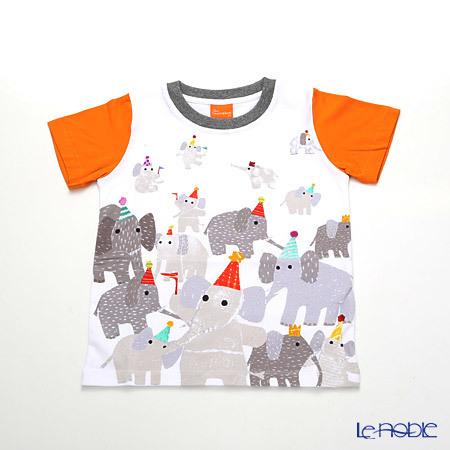ジムトンプソン 子供服 Tシャツ 3Y(3-4歳) ゾウパーティー/ホワイ・・・