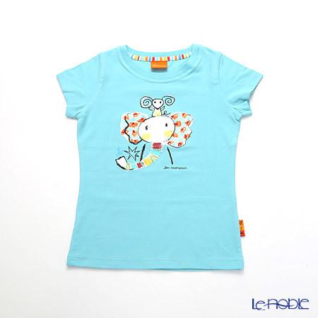 ジムトンプソン 子供服 Tシャツ S(4-7歳) ゾウレインボウ/ターコイ・・・
