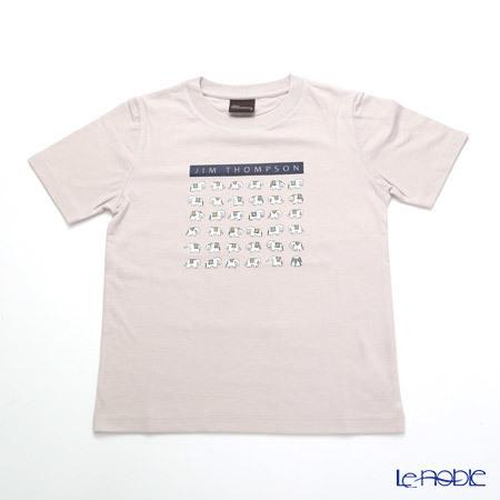 ジムトンプソン 子供服 Tシャツ S(4-7歳) ホワイトゾウ36/ライトグレ・・・