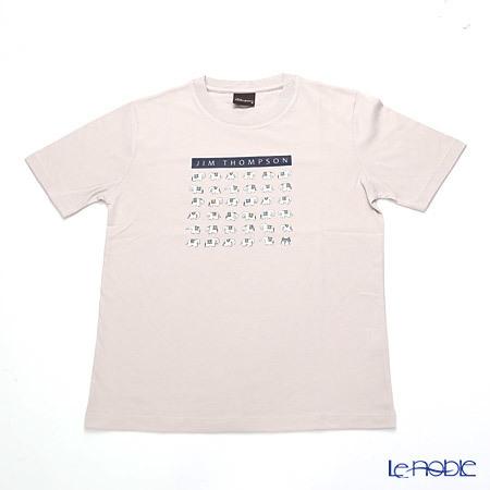 ジムトンプソン 子供服 Tシャツ M(8-11歳) ホワイトゾウ36/ライトグレ・・・