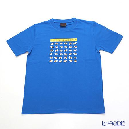 ジムトンプソン 子供服 Tシャツ M(8-11歳) ホワイトゾウ36/ブル・・・