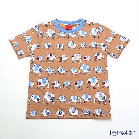 ジムトンプソン 子供服 Tシャツ S(4-7歳) ゾウウォーキング/ベージ・・・