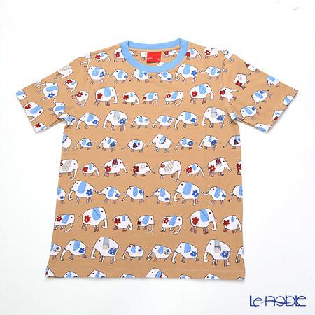 ジムトンプソン 子供服 Tシャツ M(8-11歳) ゾウウォーキング/ベージ・・・
