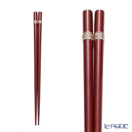 若狭塗箸 シャインビューティーA S-11048 22.5cm レッド 桐箱・・・