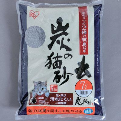 アイリスオーヤマ 【4個セット】炭の猫砂 SNS-70 【4個セット】7・・・