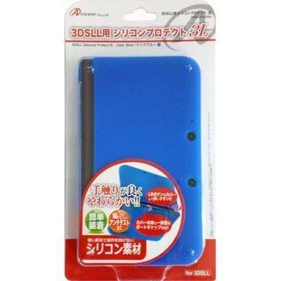 アンサー 3DS LL用 「シリコンプロテクト 3L」 (クリアブルー) ANS-3D030BL ・・・