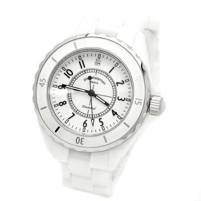 pierretalamon 腕時計メンズウォッチジュエリーコレクションセラミック(ホワ・・・