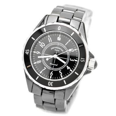 pierretalamon 腕時計メンズウォッチジュエリーコレクションセラミック(ブラ・・・