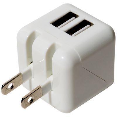ミヨシ USB-ACアダプタ 2.4A 2ポート ホワイト IPA-US01/WH