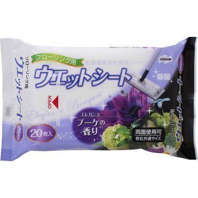 山崎産業 コンドル フローリング用ウェットシート エレガンスブーケの香り 20・・・