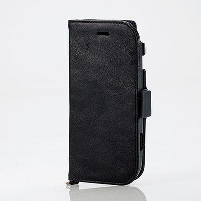 エレコム らくらくスマートフォン4(F-04J)/ソフトレザーカバ-/サイドマグネッ・・・