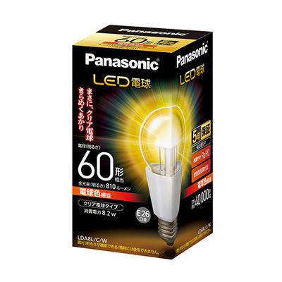 パナソニック LED電球 クリア電球タイプ8.2W【口金E26】(電球色相当) LDA8LC・・・
