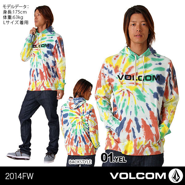 【VOLCOM/ボルコム】メンズ プルオーバーパーカー{A41314JD}【[01]YEL】【[・・・