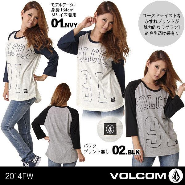 【VOLCOM/ボルコム】レディース 長袖Tシャツ{B44314JA}【[02]BLK】【S】【・・・